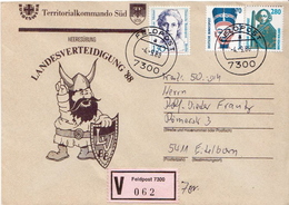 Postal History: Germany Military V Cover Landesverteidigung '88 Feldpost 7300 - Militaria
