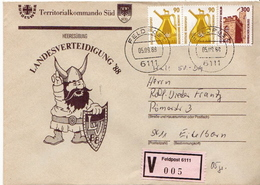 Postal History: Germany Military V Cover Landesverteidigung '88 Feldpost 6111 - Militaria