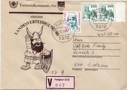 Postal History: Germany Military V Cover Landesverteidigung '88 Feldpost 3212 - Militaria