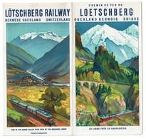Dépliant Touristique Chemin De Fer Du LOETSCHBERG Oberland Bernois Suisse - 3 Scans - Dépliants Touristiques