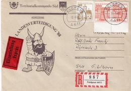 Postal History: Germany Military E + R Cover Landesverteidigung '88 Feldpost 4411 - Militaria