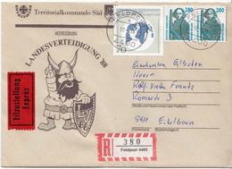 Postal History: Germany Military E + R Cover Landesverteidigung '88 Feldpost 4400 - Militaria