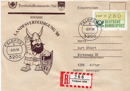 Postal History: Germany Military R Cover Landesverteidigung '88 Feldpost 3200 - Militaria