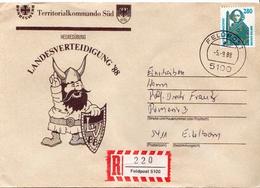 Postal History: Germany Military R Cover Landesverteidigung '88 Feldpost 5100 - Militaria