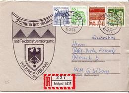 Postal History: Germany Military R Cover Heeresübung'86 Frankisher Schild Mit Feldpostversorgung Feldpost 6211 - Militaria