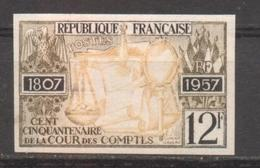 Cour Des Compte YT 1107 De 1957 Essai De Couleur Multi Sans Trace Charnière - France