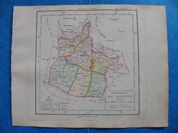 Révolution Française Carte Ardennes 1793 Charleville Mézieres Sedan Rocroy Revin - Geographical Maps