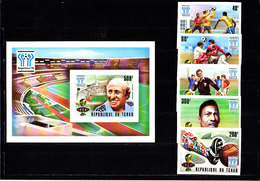 Soccer World Cup 1978 -  CHAD - S/S+Set Imperf.  MNH ** - 1978 – Argentina