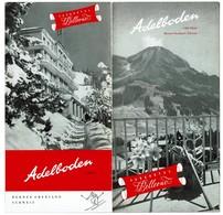 Dépliant Touristique ADELBODEN Parkhotel Bellevue Oberland Bernois Suisse  - 3 Scans - Dépliants Touristiques