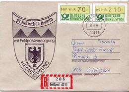 Postal History: Germany Military R Cover Heeresübung'86 Frankischer Schild Mit Feldpostversorgung Feldpost 4211 - Militaria