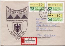 Postal History: Germany Military R Cover Heeresübung'86 Frankischer Schild Mit Feldpostversorgung Feldpost 6200 - Militaria