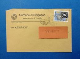 COMUNI D'ITALIA BUSTA DEL 2001 COMUNE BISIGNANO CON REGNO DI SARDEGNA ISOLATO - 2001-10: Marcophilia