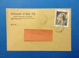 COMUNI D'ITALIA BUSTA DEL 2001 COMUNE DI SAN FILI CON PIERO DELLA FRANCESCA ISOLATO - 2001-10: Marcophilia