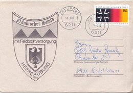 Postal History: Germany Military Cover Heeresübung'86 Frankischer Schild Mit Feldpostversorgung Feldpost 6211 - Militaria