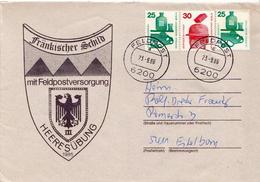 Postal History: Germany Military Cover Heeresübung'86 Frankischer Schild Mit Feldpostversorgung Feldpost 6200 - Militaria