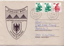 Postal History: Germany Military Cover Heeresübung'86 Frankischer Schild Mit Feldpostversorgung Feldpost 4211 - Militaria