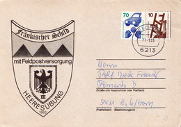 Postal History: Germany Military Cover Heeresübung'86 Frankischer Schild Mit Feldpostversorgung Feldpost 6213 - Militaria