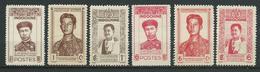 INDOCHINE 1943/44 . Série N°s 236 à 241 . Neufs (*) Sans Gomme . - Indochina (1889-1945)