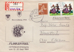Postal History: Germany Military R Cover Heeresübung'84 Flinker Igel Feldpost 72aa - Militaria