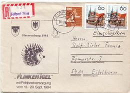 Postal History: Germany Military R Cover Heeresübung'84 Flinker Igel Feldpost 74aa - Militaria
