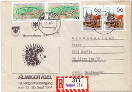 Postal History: Germany Military R Cover Heeresübung'84 Flinker Igel Feldpost 73aa - Militaria
