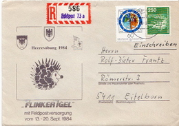 Postal History: Germany Military R Cover Heeresübung'84 Flinker Igel Feldpost 73a - Militaria