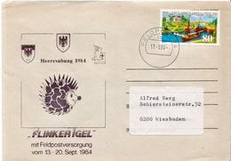 Postal History: Germany Military Cover Heeresübung'84 Flinker Igel Feldpost 74ab - Militaria