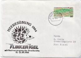 Postal History: Germany Military Cover Heeresübung'84 Flinker Igel Feldpost 74ad - Militaria