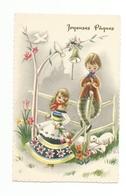 ENFANTS - LITTLE GIRL - MÄDCHEN - Jolie Carte Fantaisie   PAQUES - Enfants