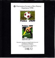 Soccer World Cup 1978 - Football - POLAND - S/S Imp. MNH - 1978 – Argentina