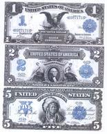 USA Silver Certificates 6 Note Set 1899-1923 COPY - Silver Certificates (1878-1923)