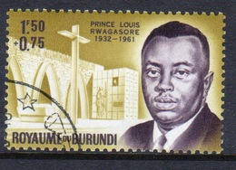 Burundi 1963 Single Fine Used Stamp From The Prince Rwagasore Memorial Fund. - 1962-69: Used