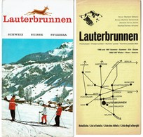 Dépliant Touristique 1966 - LAUTERBRUNNEN Oberland Bernois Suisse + Liste Des Hôtels été - 2 Scans - Dépliants Touristiques