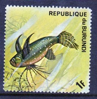 Burundi 1974 Single Fine Used Stamp From The Fish Series. - 1970-79: Used
