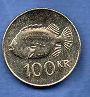Islande -  100 Kronur 2011   -  Km # 35  -  état  SUP - Islande