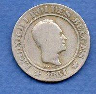 Belgique- 20 Centimes 1861   -  Km # 20  -  état  TB - 1831-1865: Leopold I