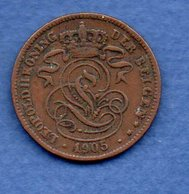Belgique- 2 Centimes 1905   -  Km # 36  -  état  TB+ - 02. 2 Céntimos