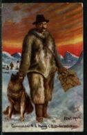 Ref 1297 - Raphael Tuck Postcard - Commander R.E. Peary C.E. - Polar Explorer U.S. Navy - Famous People