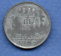 Belgique- 1 Franc 1944    -  Km # 128  -  état  SUP - 1934-1945: Leopold III