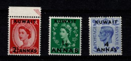 Ref 1297 - 1952 GB Mint Stamps Overprinted Kuwait - Middle East - Kuwait