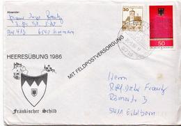 Postal History: Germany Military Cover Heeresübung'86 Frankischer Schild Mit Feldpostversorgung Dettelbach - Militaria