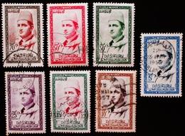 MAROC Yt 362, 363, 364,365,  366, 367, Complète King Mohammed V Oblitérés - Maroc (1956-...)