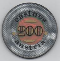 Jeton De Casino : Casinos Austria Autriche 200 Shilling - Casino