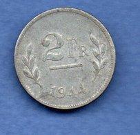 Belgique- 2 Francs 1944    -  Km # 133 -  état  TTB - 1934-1945: Leopold III