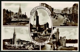 Ref 1297 - Real Photo Multiview Postcard - Patrick Street & Castle Cork Ireland Eire - Cork
