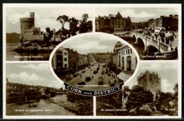 Ref 1297 - Real Photo Multiview Postcard - Patrick Street & Bridge Cork Ireland Eire - Cork