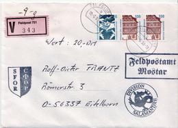 Postal History: Germany Military V Cover Feldpostamt Mostar 1998 Division Salamandre - Militaria