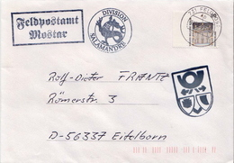 Postal History: Germany Military Cover Feldpostamt Mostar 1998 Division Salamandre - Militaria