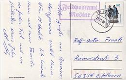 Postal History: Germany Military PPC Feldpostamt Mostar 1998 - Militaria