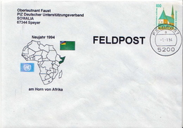 Postal History: Germany Military Cover Feldpost Somalia 1993 - Militares